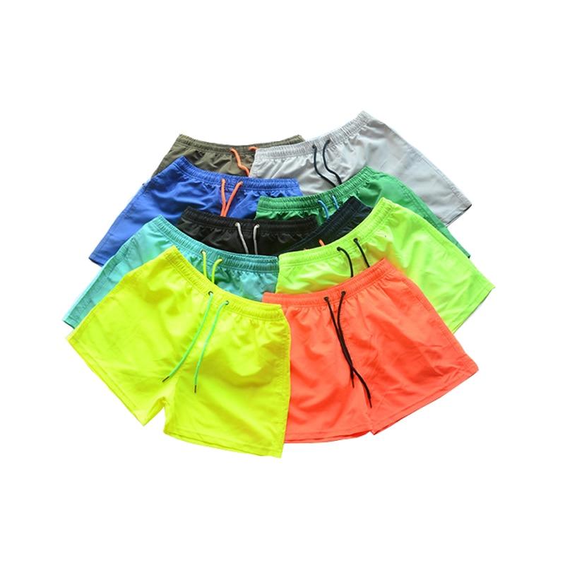 Size S-4XL Men's Beach Shorts Men Summer Swimming Shorts Beach Pants Quick Dry Swim Shorts Running Gym Man Plus Size Trunks