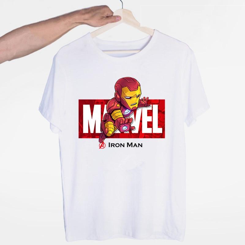 Marvel Avengers Iron Man Captain America Spiderman Hulk T Shirts Fashion Men And Women Tops T-shirt Short Sleeve Unisex Tshirt