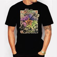 Jojo's Page JoJo Bizarre Adventure Vintage T Shirts Men Short Sleeve Tops Designs Tees Pure Cotton O-Neck Top()