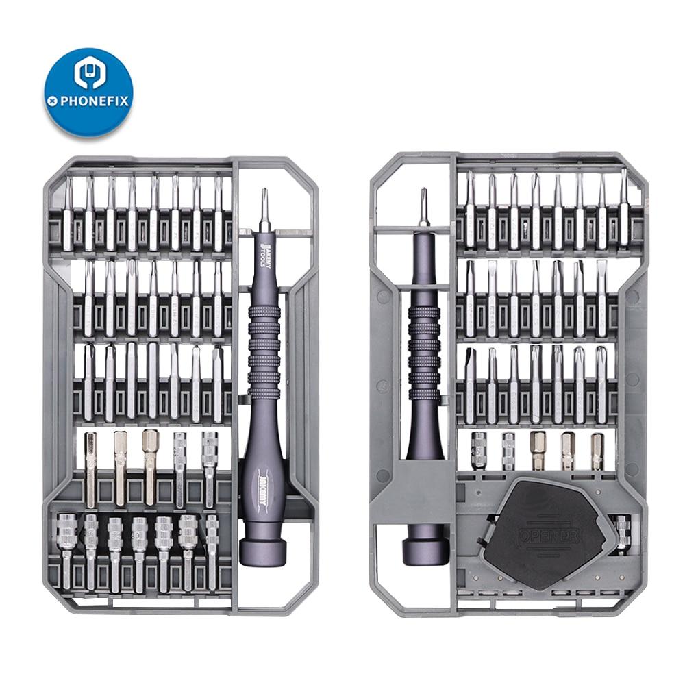JAKEMY JM-8173 Precision Magnetic Screwdriver Set Multi-layer Design Classic Black Screwdriver Tool Kit For IPhone Laptop PC