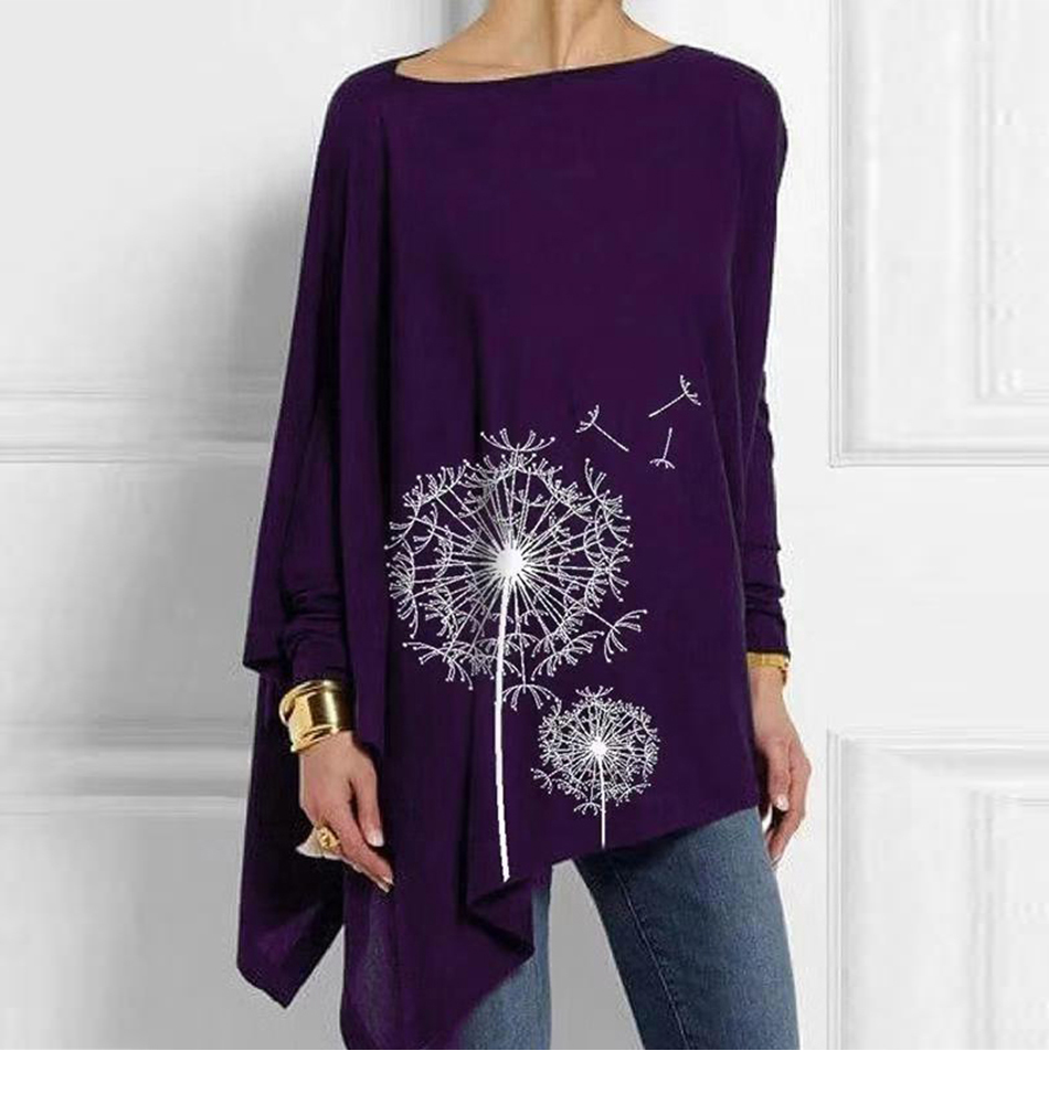 Cotton Irregular Womens Tops And Blouses Casual O Neck Long Sleeve Top Female Tunic 2019 Autumn Spring Plus Size Women's Blouse He6154c32ecba4762a5e4ce5a81317db1t