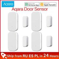 Xiaomi-Sensor de ventana y puerta Aqara Zigbee, alarma de conexión inalámbrica, Mini Sensor inteligente de puerta, funciona con Mijia Gateway Mi Home HomeKit