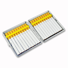 Cigarette-Case Personalized Gadgets Metal with Rubber-Band for Men 20-Sticks Creative