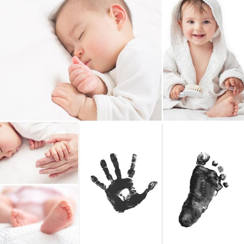 Baby Gift Non-Toxic Newborn Handprint Footprint Imprint Kit Souvenirs Casting Parent-child Hand Inkpad Watermark Baby Clay Toy