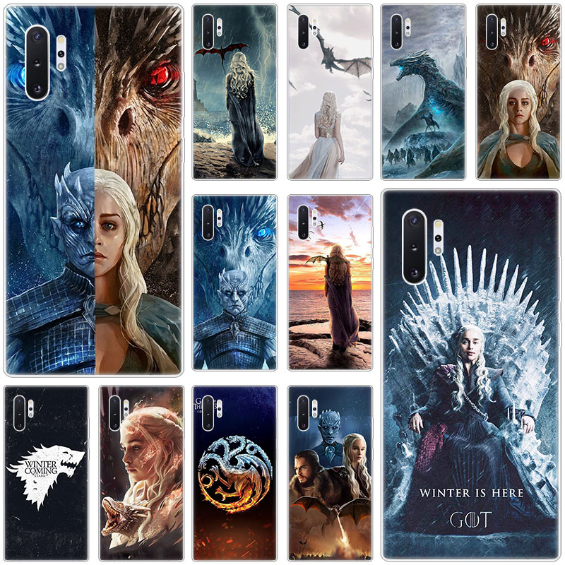 Hot Game of Throne Silicone Case for Samsung <font><b>Galaxy</b></font> <font><b>S10E</b></font> S10 5G S9 S8 S7 Edge Note 10 Plus 9 A9 A8 A7 A6 Plus 2018 A5 2017 TPU image