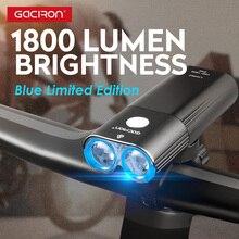 Передняя светодиодная фара Gaciron на руль велосипеда, 1800 лм, зарядка через USB