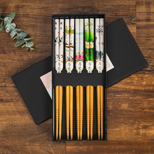 WCIC Natural Bamboo Chinese Chopsticks Reusable Tableware Dinning Eating Japanese Chopstick for Gift Sushi Food Sticks