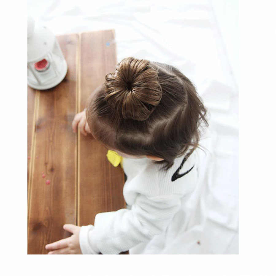 The Tide Girl Wig Female Baby Ball Head Hairpin Girl Summer Foreign Style Baby Hair Wig Small Clip Synthetic Chignon For White Synthetic Chignon Aliexpress