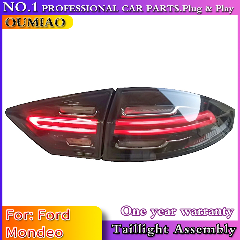 Car Accessories 4 Pieces For Ford Mondeo Fusion Taillights 2013 2014 2015 2016 LED Tail Lamp Rear Lamp DRL+Dynamic Signal