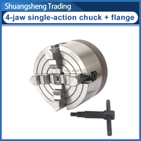125mm 4 jaw single action chuck+flange K72 is suitable for WM210V series lathes