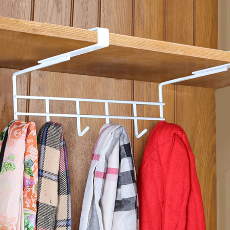 Cabinet Iron Free Punching Kitchen Cabinet Wall Hooks Hanging Storage Racks wardrobe bedroom accessories