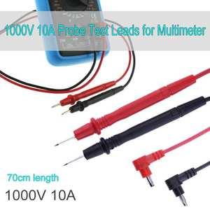 70cm Universal Multimeter Probe Test Leads For ANENG Digital Multimeter Feelers Multimeter Wire Cable Pen Tip 10A 1000V
