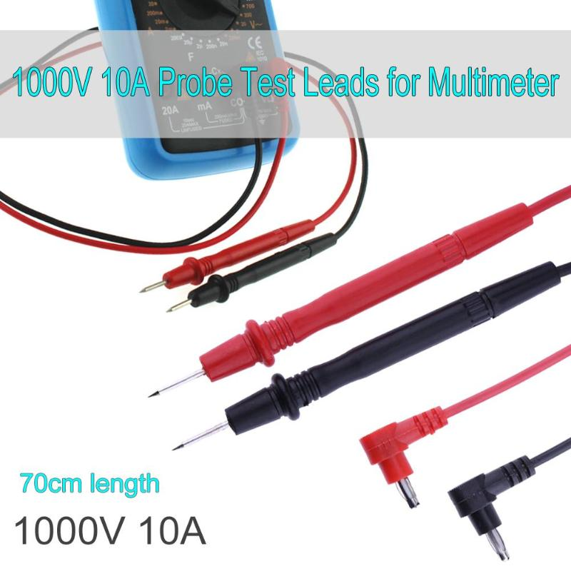 70cm Universal Multimeter Probe Test Leads For ANENG Digital Multimeter Feelers Multimeter Wire Cable Pen Tip 10A 1000V