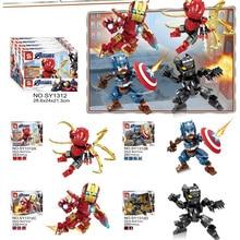 Marvel Avengers Spiderman Ultimate Spider-man Noir Gwenom Building Blocks Bricks Toys For Children marvel universe ultimate spider man