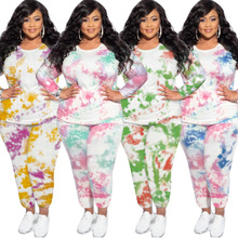 Outfits Pants-Sets Plus-Size Women And Top Long-Sleeve Two-Piece