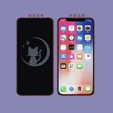 6D Unsichtbar Karikatur Kreide Gehärtetem Glas Für iPhone X XR XS 12 Mini 11 Pro Max Screen Protector
