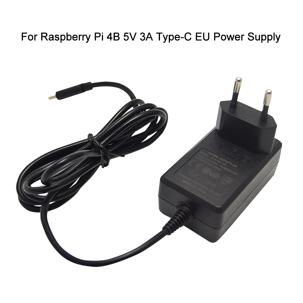 Raspberry Pi 4 B EU Power Adapter 5V 3A Type-C Power Supply For RPI 4 Model B  EU Charger Available