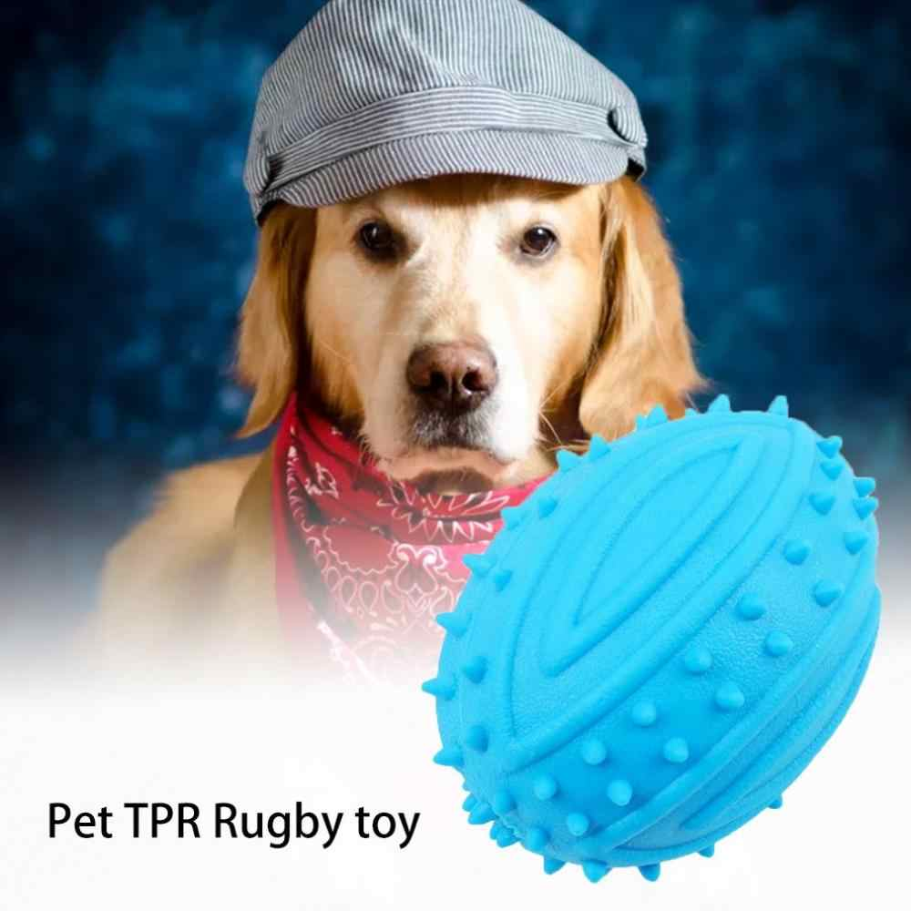Dog Toothbrush Dog Rugby Bite Ball Toothbrush Molar Pet Toy Tooth Cleaning Toy Dog Grinding Ball Molar Stick Ball