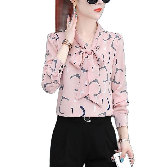 Chiffon Shirt  New Annals Dress In 2020 Foreign Style Fashion Undies Women's Long Sleeve Top Spring And Autumn Blouse Gir 1