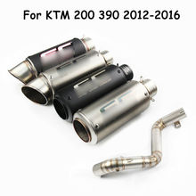 Duke 390 Motorcycle Exhaust Tail Pipe Mid Link Tube For KTM Duke 390 125 250 Slip On 2017-18 Moto Exhaust Modified No DB Killer for ktm duke 125 250 390 2017 2018 motorcycle exhaust system escape muffler tip mid link tube slip on duke 390 250 125