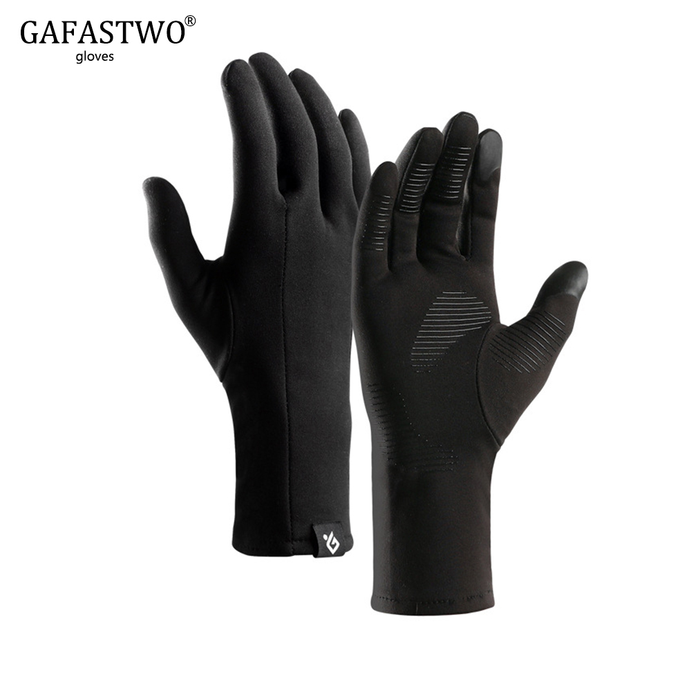 Winter Outdoor Sports Gloves Warm Men And Women Touch Screen All Refers To Windproof Non-Slip Plus Velvet Light Gloves