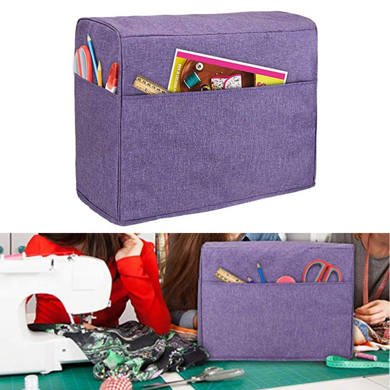 Sewing Machine Dust Cover With Convenient Pockets For Extra Accessories Protective Waterproof Universal For Singer & Brother Mac
