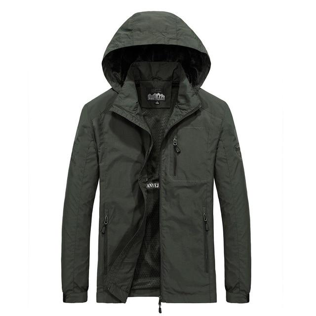 Men's Windbreaker Jackets Waterproof Military Hooded Water Proof Wind Breaker Casual Coat Male Clothing 2021 Autumn Jackets Men 1