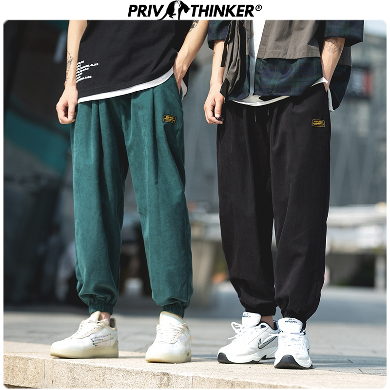 Privathinker Men 2020 Autumn Ankle-length Pants Pants Mens Casual Hip Hop Safari Style Joggers Male High Street Clothes Trousers