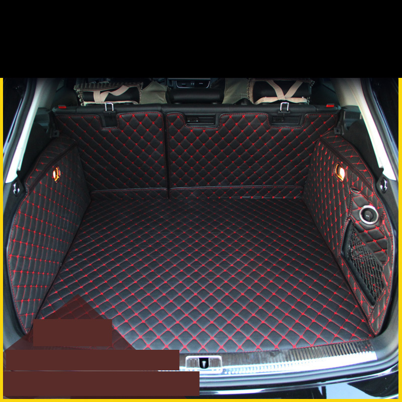 High quality Leather Car Trunk Mat Cargo Liner for Audi A4 B8 avant 2007-2016 2011 2012 2013 2014 2015 2016 Allroad accessories