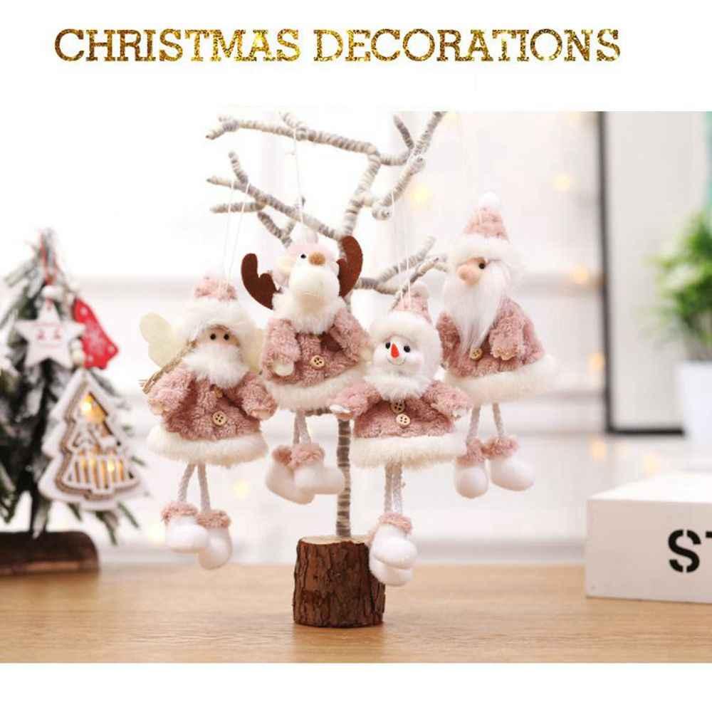 Sáng Tạo Giáng Sinh Mặt Dây Chuyền Santa Tuyết Hành Động Hình Búp Bê Cây Giáng Sinh Mặt Dây Chuyền Búp Bê Mini