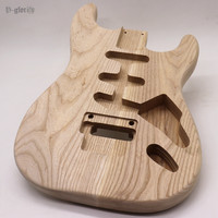 good quality floyd rose white ashwood ST electric guitar body