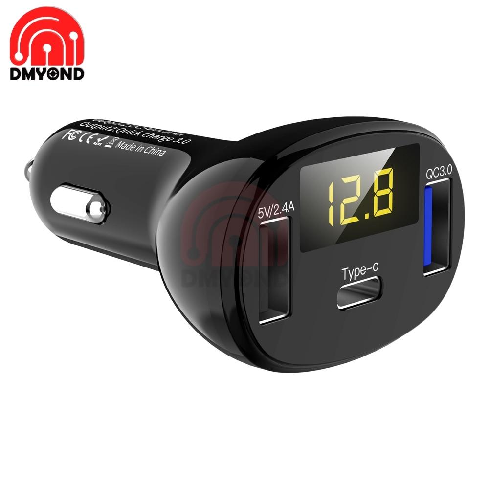 Цифровой USB-вольтметр QC3.0, измеритель напряжения с двумя USB-портами, 12 В постоянного тока, быстрая зарядка