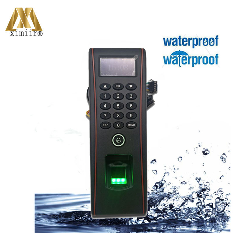 IP65 Waterproof Fingerprint Access Control Biometric ZK Access Control System With ID, IC Card Time Attendance Machine TF1700