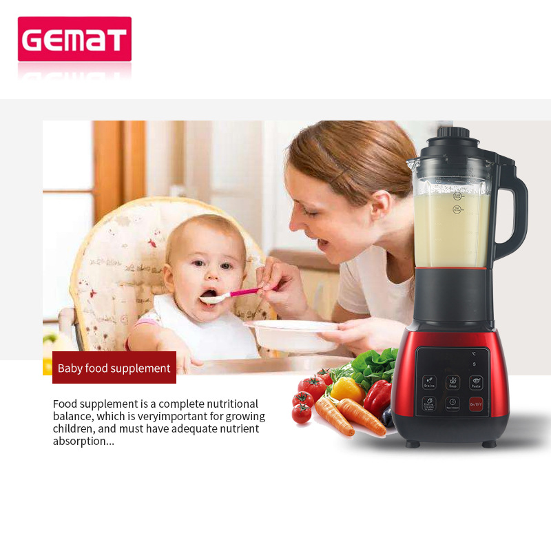 LED Touch Screen Household Broken Machine Juicer Cooking Baby Food Supplement Machine in Blenders from Home Appliances