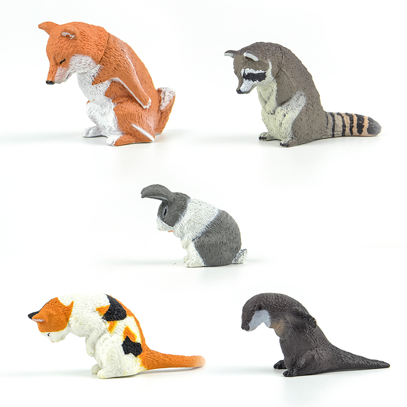 Toy Bow-Figure Pet-Calico Gashapon Raccoon Shiba Inu Animals Cat Capsule Cut Funny Ojigisan