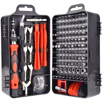 135 in 1 Screwdriver Set of Screw Driver Bit Set Multi-function Precision Tools R9JC snake bit 360 6 in 1 portable screwdriver set