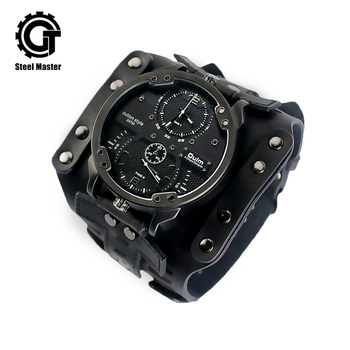 Mens Watches Top brand luxury Black sports fashion steampunk timing multi-function mechanical watch