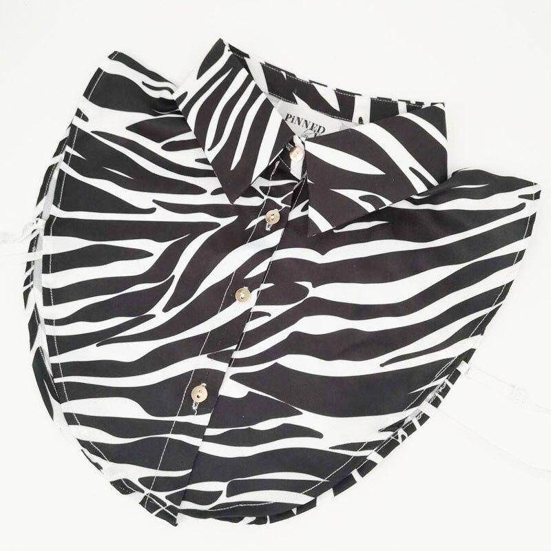 New Women's Detachable Collars Printed Flowers Zebra Leo Vest False Shirt Fake Collar Lapel Blouse Ties Clothes Nep Kraag Cols