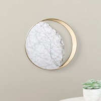 LukLoy Nordic Modern Wall Lamp Bedside Decorative Sconce Lamp Postmodern Living Room Wall Marble Wall Light Metal Round Sconce