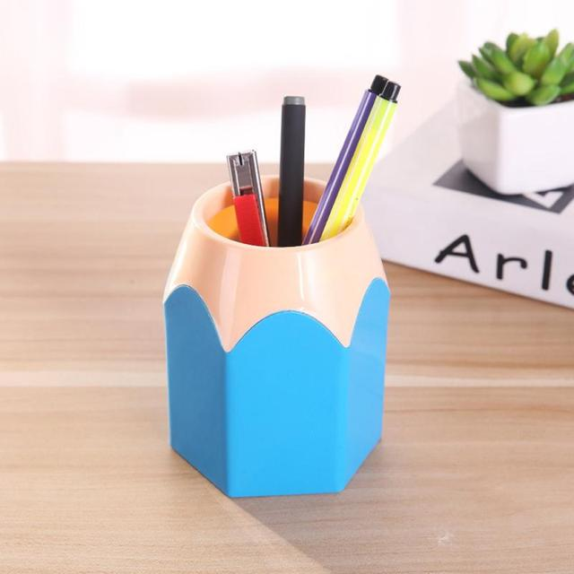 Mini crayon Pot support stylo stockage Vase papeterie cadeau tasse maquillage brosse boîte bureau fournitures scolaires porte-stylo