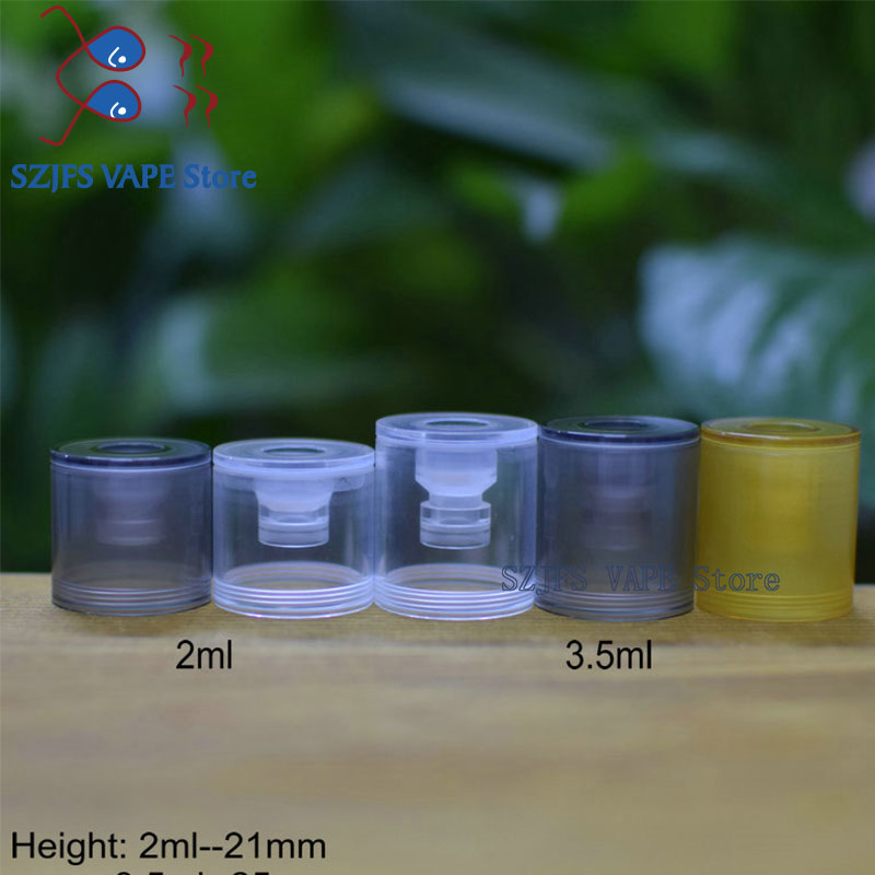 Dvarw MTL RTA Polished Clear Bellcap Ultem Top Cap Diameter 22mm 2ml And 3.5ml Vape Accessoryies For Dvarw V2 16 24 MTL RTA Rda