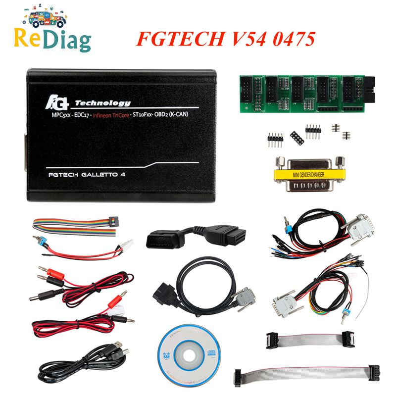 2020 FGtech VD300 V54 0386 0475 Galetto 4 Master Code Scanner ECU Chip Tuning Tool FG Tech V54 BDM-TriCore OBDII Support BDM