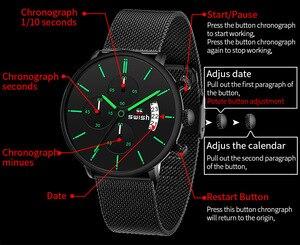 Image 4 - Swish Mannen Horloges 2020 Luxe Merk Mode Heren Horloges Rvs Sport Chronograaf Militaire Horloge Quartz Reloj