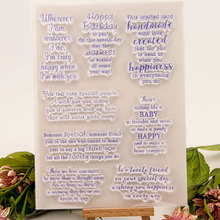 Birthday Clear Stamps Words Phrase New 2019 Transparent Silicone Seal for DIY Scrapbooking Card Making Photo Album Decor Crafts happy birthday words clear transparent stamps diy crafts card album making stencil decor scrapbooking embossing new stamps 2019