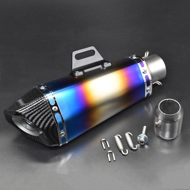 Купить с кэшбэком 51mm Motorcycle exhaust pipe muffler for yoshimura exhaust Escape moto with silencer DB killer for Z900 MT09 KTM390 R6 FZ8 zx6r