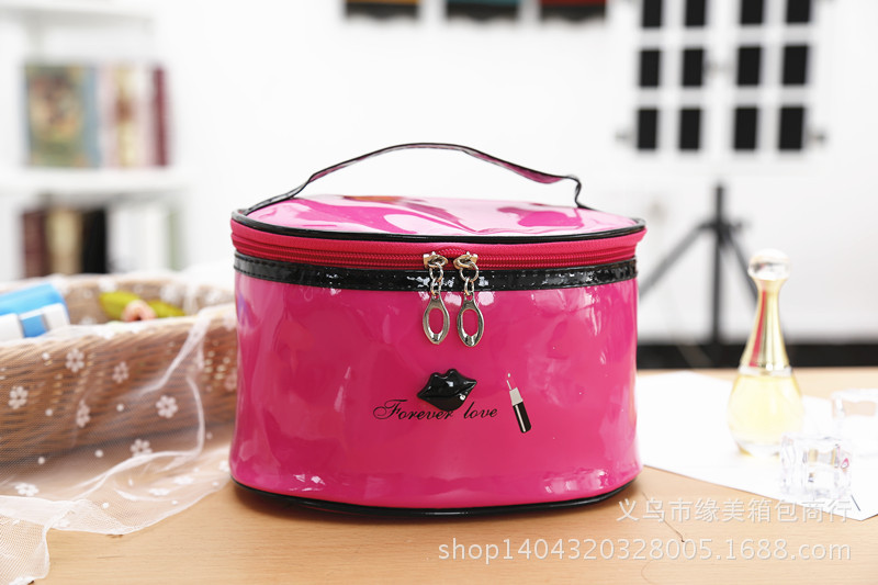 Large-Volume PU Leather Cosmetic Bag Portable Travel Cute Storage Washed Handbag Lips Cosmetic Case Collection Storgage Bag