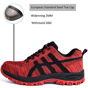 Image 2 - SUADEEX Work Shoes Men Safety Shoes Unisex Air Mesh Work Boots Men Sneakers Anti smashing Steel Toe Footwear Safety Boots Male