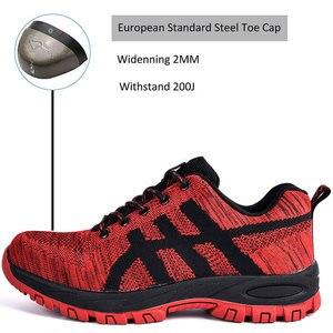 Image 2 - SUADEEX рабочая обувь, Мужская защитная обувь, унисекс, сетчатые рабочие ботинки, мужские кроссовки, Противоударная обувь со стальным носком, защитные ботинки для мужчин
