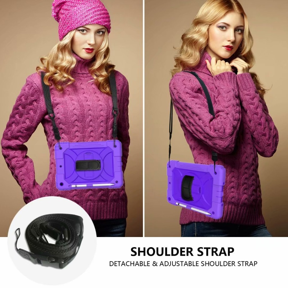 360 7th Generation iPad Hand For Stand Holder Pencil iPad Strap Rotating For Case Cover