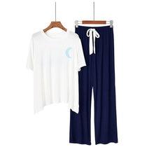 Дамский Пижамный костюм хитовый цвет модал Луна с коротким рукавом